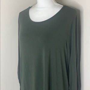 Vince Camuto Large Hunter Green Long Sleeve